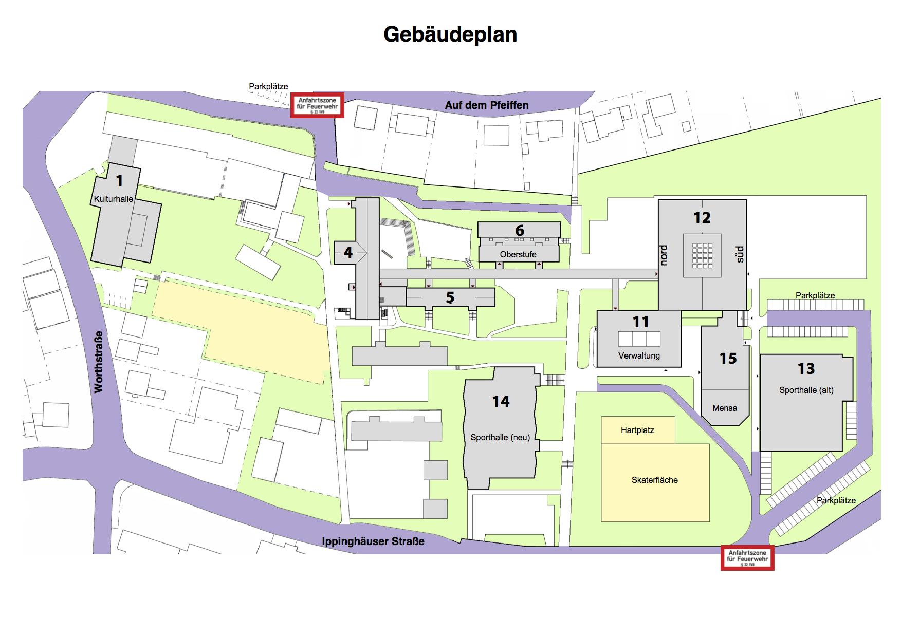 Lübckeschule Gebäudeplan